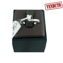 Anello Donna Con Brillante Oro 18kt Accessori Regalo