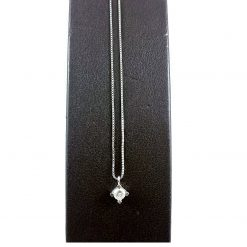 Collana Oro 18kt Con Brillante Accessori Donna Idea Regalo Fidanzamento