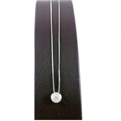 Collana Donna Oro 18kt Con Brillante Accessori Idea Regalo