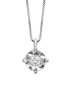 Collana Da Donna in Oro Bianco con Diamante