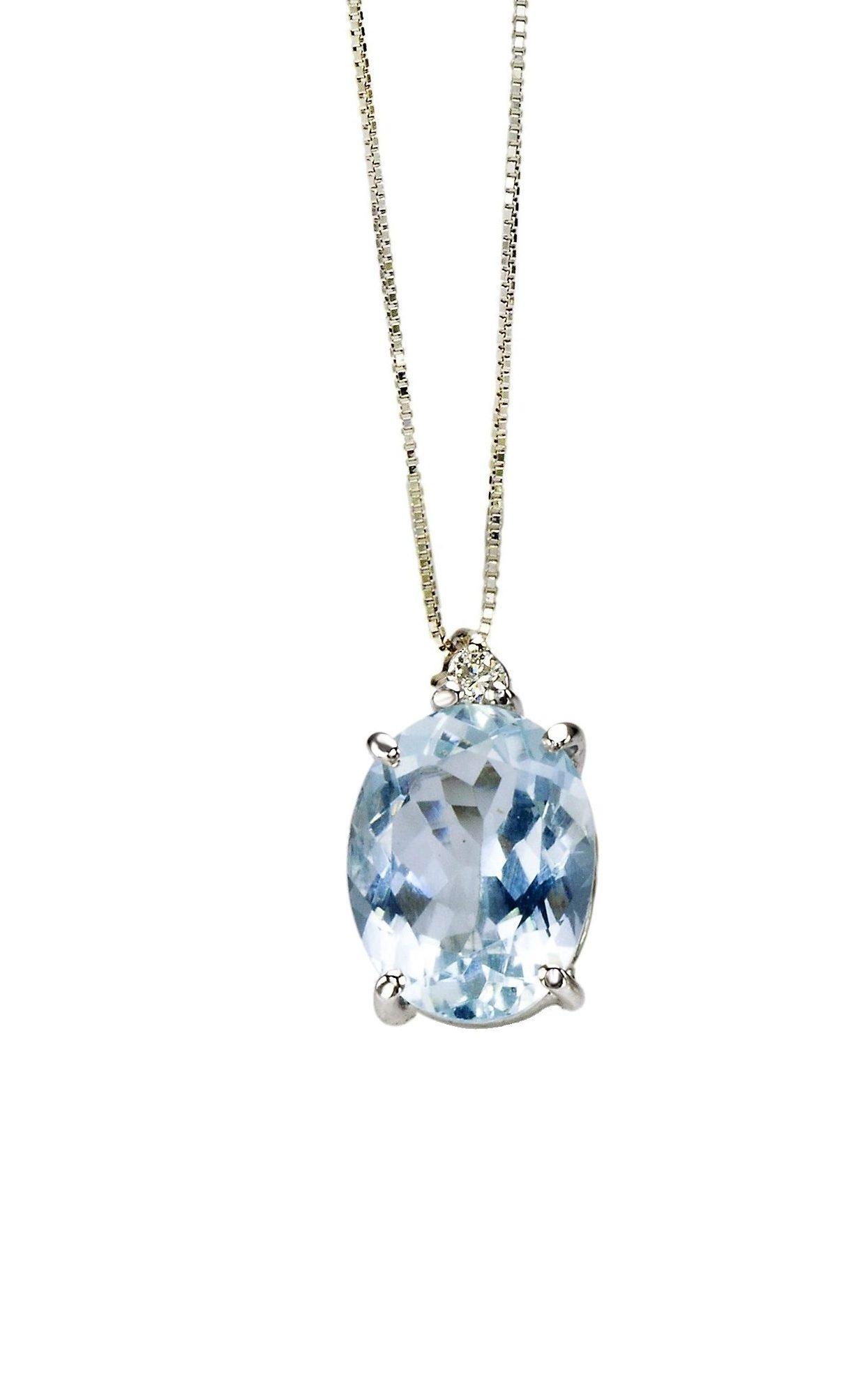 nuovo di zecca 60538 37f47 Collana Acquamarina in Oro Bianco e Diamanti