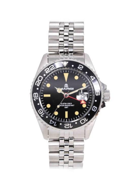 Orologio Uomo GMT Black Vintage