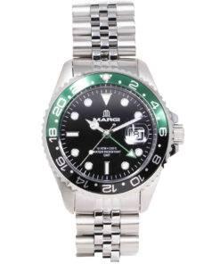 Orologio Uomo GMT Verde e Nero
